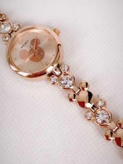 Bonito Reloj Disney Dama Para Regalo Mickey 14feb Regalo
