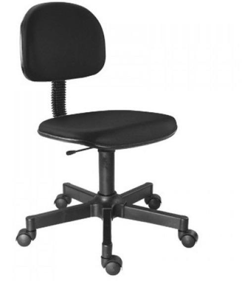 Cadeira Secretária A Gás Giratória Preta
