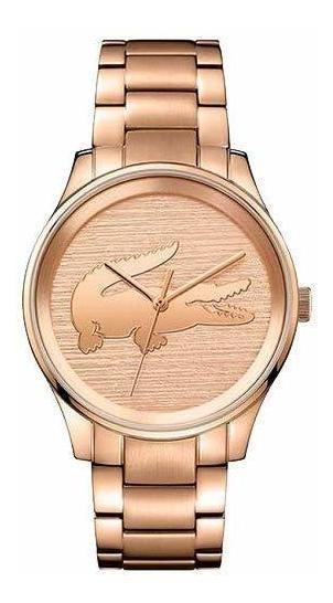 Relógio Lacoste Feminino Aço Rosé Original Com Nf E Caixa