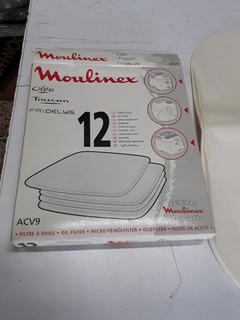Filtro Para Freidora Moulinex Olea - Touc X 3 Cajas De 12 Unid C/u.