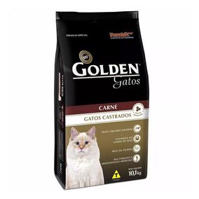 Ração Golden Carne Para Gatos Adultos Castrados 10,1kg