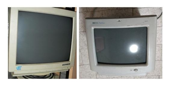 2 Monitores Color 14 Pulgadas Hp Ecovision