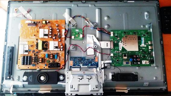 Tv Philips - 32pfl3518g - Retirada De Peças E Cabos
