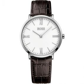 Reloj Hugo Boss 513373 Correa Cuero Cafe Original Y Nuevo
