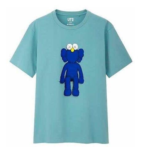 Playera Kaws X Uniqlo Blue