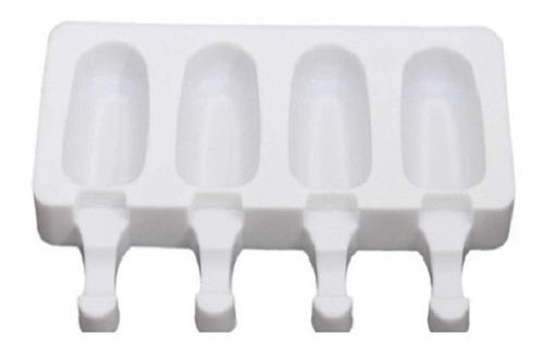 Molde Para Paleta En Silicona Mini Con 4 Espacios