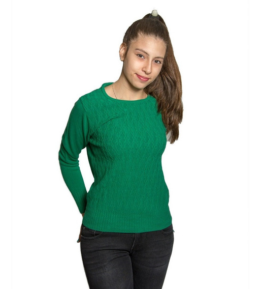 Sweater Dama Burma Con Trenzas Swe-d-14 - Tienda Chaia