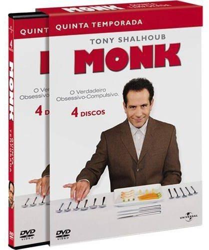 Monk 5ª Temporada - Box Com 4 Dvds - Tony Shalhoub - Novo