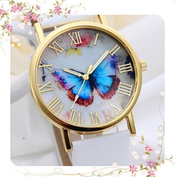 Relógio De Pulso Borboleta Social De Luxo Feminino R573
