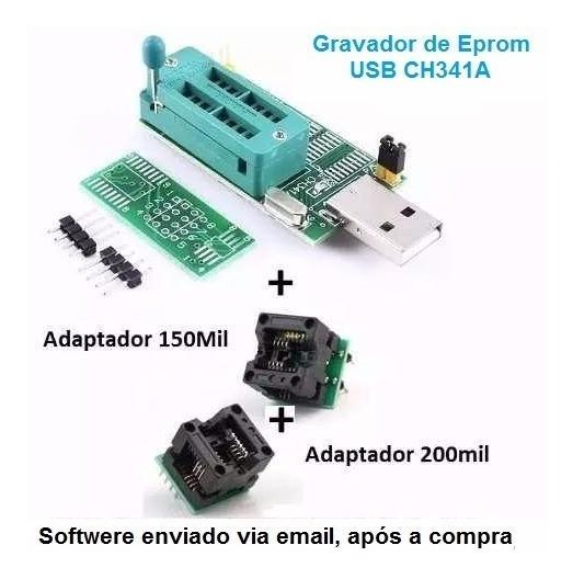 Gravador Eprom Usb Adaptador Soic8 Sop8 150mil 200mil 3em1