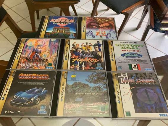 Lote Jogos Sega Saturn Japones