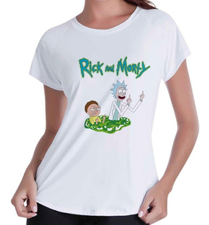 Camiseta Camisa Blusas Femininas Rick And Morty Portals
