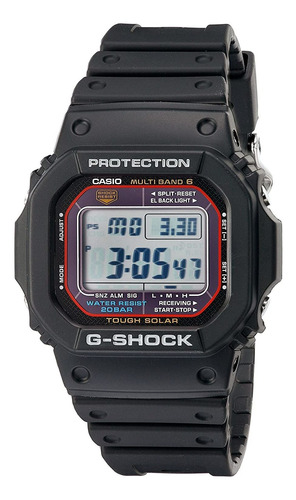 Imagen 1 de 2 de Reloj Digital Casio G-shock, Solar, 46.7mm, Negro