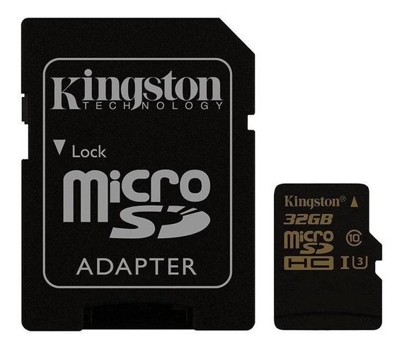 Cartão De Memória Kingston Micro Sdhc 32gb C10 4k Ultra Hd