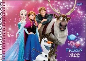 Caderno Desenho Frozen 96 Fls 01 Caderno Brochurao Frozen R