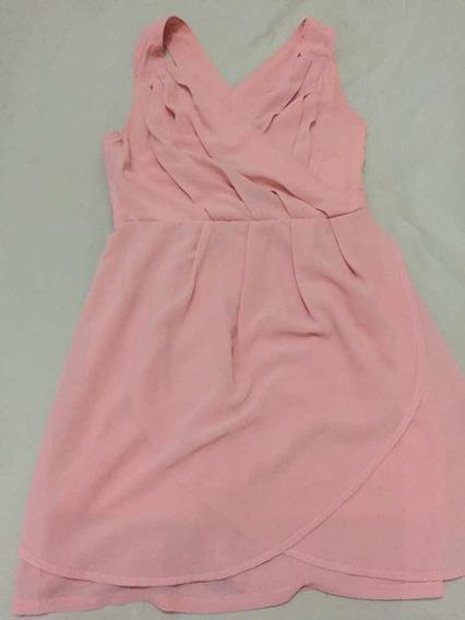 Vestido Casual Color Salmón Talla S