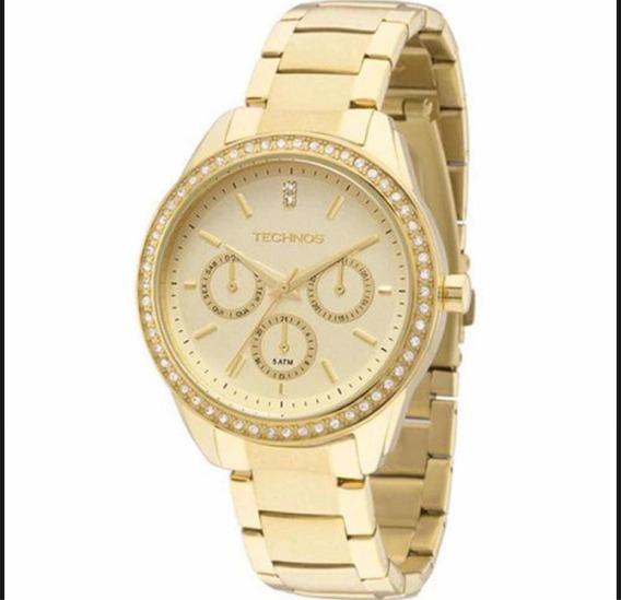 Relógio Technos Dourado Feminino 6p29ale/4x