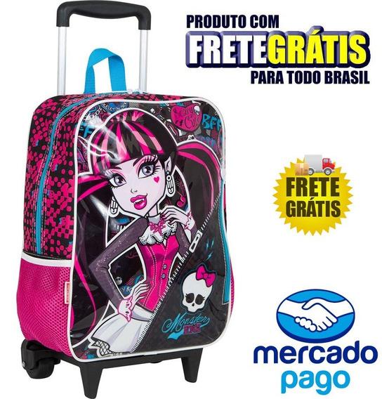 Mochila De Rodinhas Monster Infantil High G Frete Grátis M03