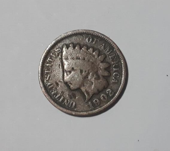 Moneda Norteamericana De 1 Cent De 1902, $ 300