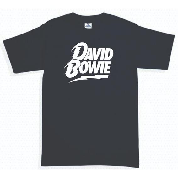 Playera David Bowie Logo Rayo 4 Hombre Mujer