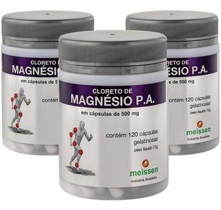 Kit 6 Cloreto Magnesio Meissen 120caps