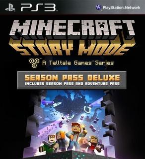Minecraft Story Mode - Season Pass Deluxe ~ Ps3 Digital