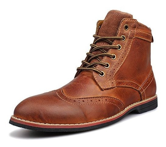 Zapatos Clasicos Acordonados De Cuero Para Hombre Kunsto
