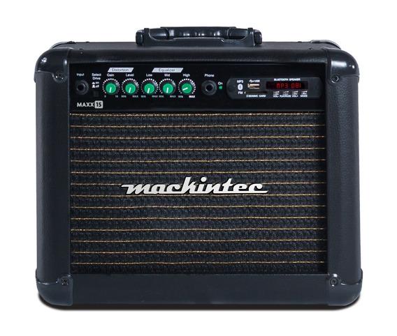 Cubo Ativo Para Guitarra 15 W Rms Mackintec Maxx 15 Usb