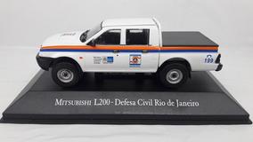Miniatura Mitsubishi L200 4x4 Defesa Civil-rj Veículos Ed.43