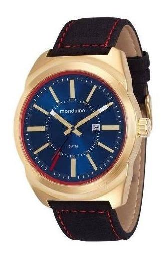 Relógio Dourado Mondaine Masculino Analógico 76594gpmvdh1