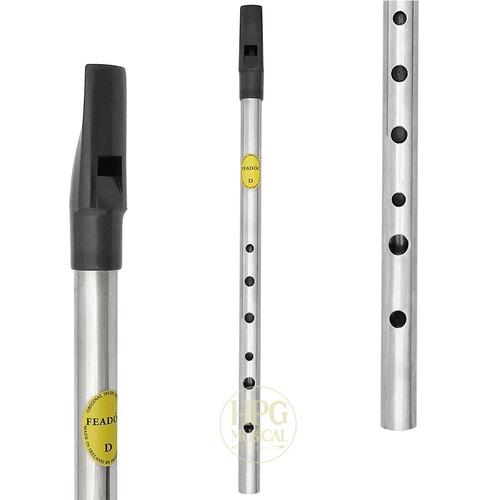 Flauta Irlandesa Feadóg Irish Whistle Re D Niquelada