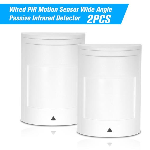 2 Pcs Wired Pir Sensor De Movimento De Largura Do ?ngulo