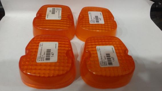 Lente Pisca Cb 400/450 Xl125 Xl250 Xlx250 Jogo 4pecas Riffel