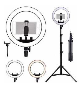 Ring Light Completo Iluminador Portátil 26cm Com Tripé Make