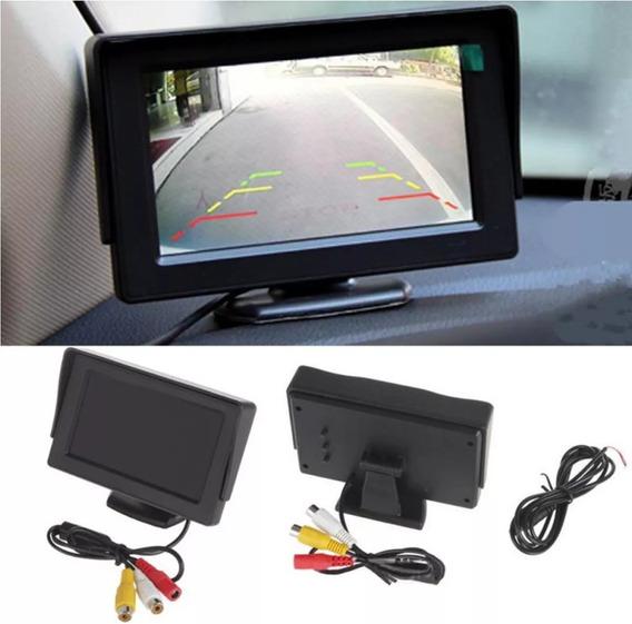 Tela Veicular Monitor 4.3 Vídeo Lcd Para Camera Ré Dvd