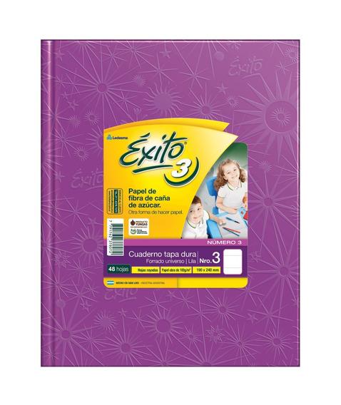 Cuaderno Exito Universo 3 Tipo Abc Lila Rayado 19x24cm