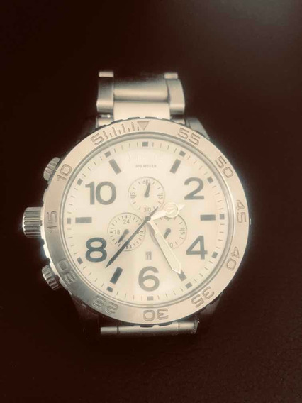 Relógio Nixon Cromado Em Inox Zerado