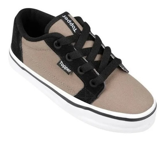 Topper Zapatillas Tony Fossil/negro 100% Originales