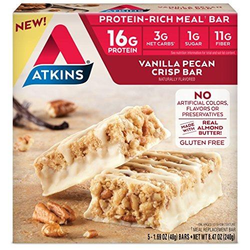 Atkins  Barra De Comidas Sin Gluten Proteicoico Vainilla Pec