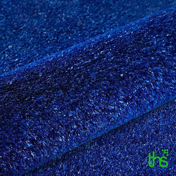 Tapete De Grama Sintetica Azul Para Decoração Provençal