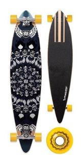 Skate Long Board Bob Burquist Multilaser Es015 Rodas Amarela