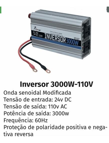 Inversor Tensão 24v 110v 3000w Transformador K547 Conversor