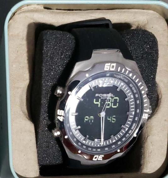 Relógio Fóssil Anadigi Original Com Manual E Certificado