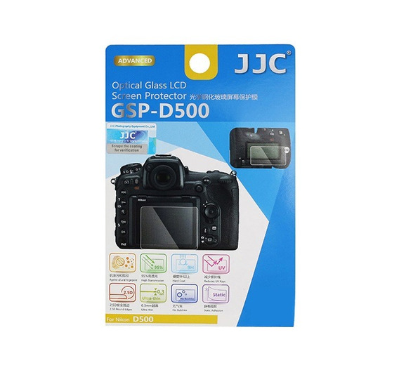 Protetor De Vidro Lcd Câmera Jjc Gspd500 Nikon D500