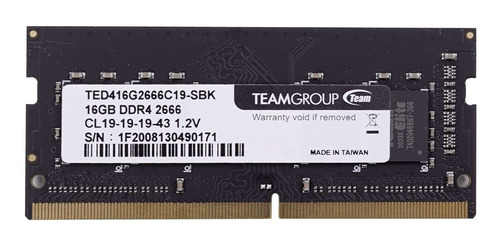 Memoria Teamgroup Notebook 16gb Ddr4 2666mhz Ted416g2666c19