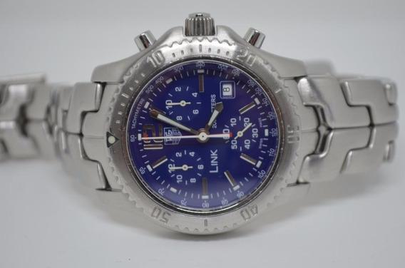 Tag Heuer Link Ct1110 - Chronografo - Mostrador Azul