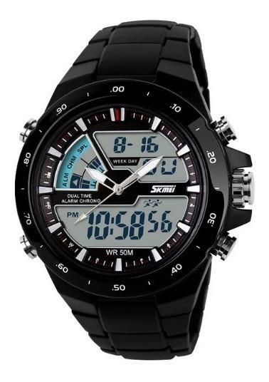 Relógio Masculino Skmei Digital /analógico Preto Original