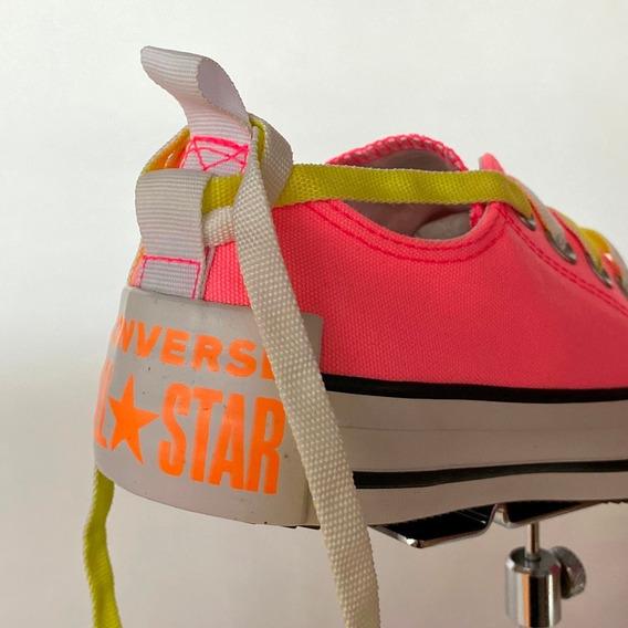 Tênis Allstar Rosa Neon Tradicional Original - Atitude