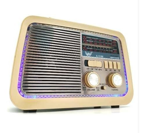 Rádio Retrô Vintage Bluetooth- Am /fm/sw/usb- Mp3 Bivot