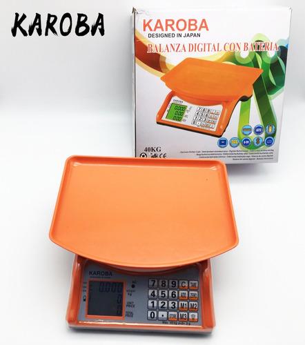 Balanza Digital Bat/recargable 40 Kg Karoba